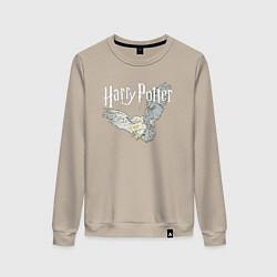 Свитшот хлопковый женский Гарри Поттер: Букля цвета миндальный — фото 1