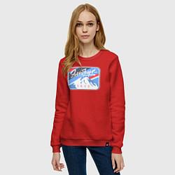 Свитшот хлопковый женский Эльбрус 5642 цвета красный — фото 2