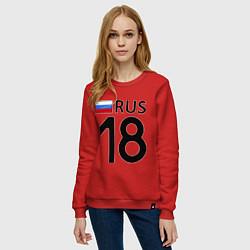Свитшот хлопковый женский RUS 18 цвета красный — фото 2