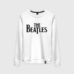 Свитшот хлопковый женский The Beatles цвета белый — фото 1