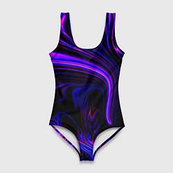 Купальник-боди 3D женский Цветные разводы цвета 3D — фото 1