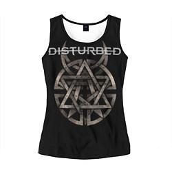 Майка-безрукавка женская Disturbed Logo цвета 3D-черный — фото 1