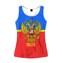 Майка-безрукавка женская Ижевск: Россия цвета 3D-белый — фото 1