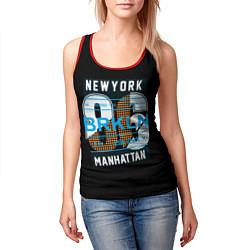 Майка-безрукавка женская New York: Manhattan 86 цвета 3D-красный — фото 2
