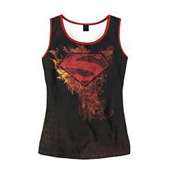 Майка-безрукавка женская Superman цвета 3D-красный — фото 1