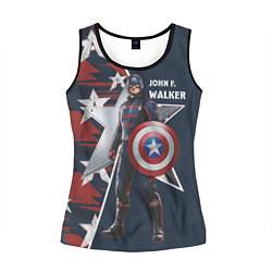Майка-безрукавка женская Marvel Капитан Америка цвета 3D-черный — фото 1