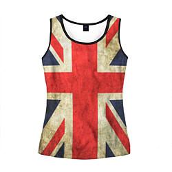 Майка-безрукавка женская Великобритания цвета 3D-черный — фото 1