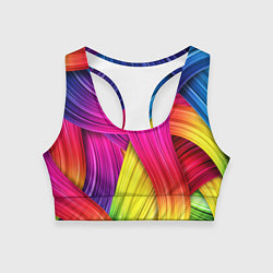 Топик спортивный женский Абстракция цвета цвета 3D — фото 1
