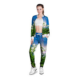 Олимпийка женская Подснежники цвета 3D-белый — фото 2