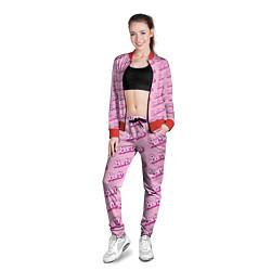 Олимпийка женская Barbie Pattern цвета 3D-красный — фото 2
