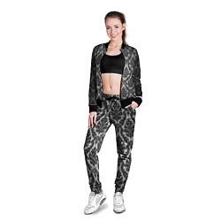 Олимпийка женская Гламурный узор цвета 3D-черный — фото 2