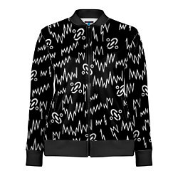Олимпийка женская Chemical Brothers: Pattern цвета 3D-черный — фото 1
