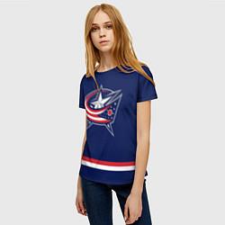 Футболка женская Columbus Blue Jackets цвета 3D — фото 2