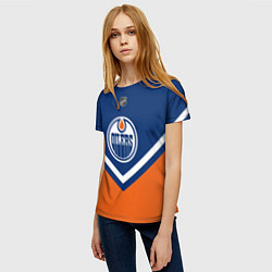 Футболка женская NHL: Edmonton Oilers цвета 3D — фото 2