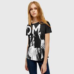 Футболка женская Depeche mode: black цвета 3D-принт — фото 2