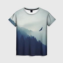 Футболка женская Орел над Лесом цвета 3D — фото 1