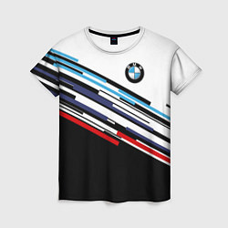 Футболка женская BMW BRAND COLOR цвета 3D — фото 1