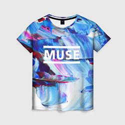 Футболка женская MUSE: Blue Colours цвета 3D-принт — фото 1