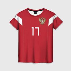 Футболка женская Сборная России: Головин ЧМ-2018 цвета 3D-принт — фото 1