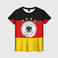 Футболка женская Немецкий футбол цвета 3D — фото 1