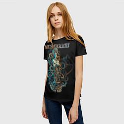 Футболка женская Meshuggah: Violent Sleep цвета 3D — фото 2