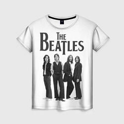Футболка женская The Beatles: White Side цвета 3D-принт — фото 1
