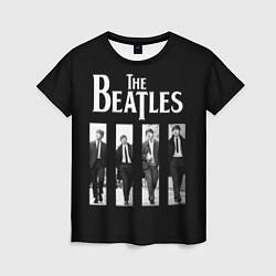 Футболка женская The Beatles: Black Side цвета 3D-принт — фото 1