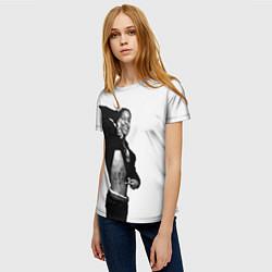 Футболка женская ASAP Rocky: White Fashion цвета 3D — фото 2