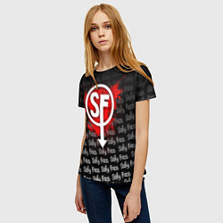Футболка женская Sally Face: Blood SF цвета 3D — фото 2