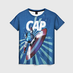 Футболка женская Captain America цвета 3D — фото 1