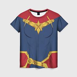 Футболка женская Capitan Marvel Costume цвета 3D — фото 1