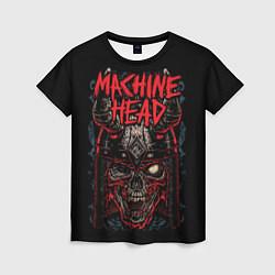 Футболка женская Machine Head: Blooded Skull цвета 3D — фото 1