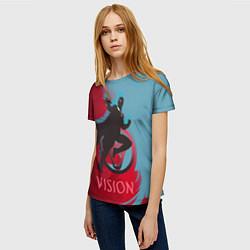 Футболка женская Vision Duo цвета 3D-принт — фото 2