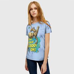 Футболка женская Get your Groot on! цвета 3D — фото 2