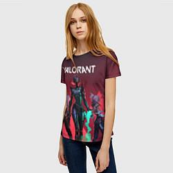 Футболка женская Valorant цвета 3D — фото 2