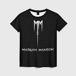 Футболка женская Marilyn Manson цвета 3D — фото 1