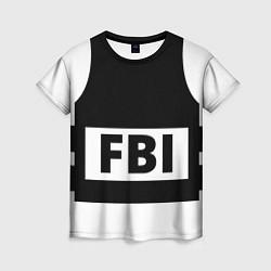 Футболка женская Бронежилет FBI цвета 3D-принт — фото 1