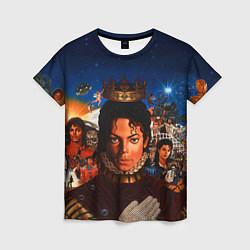 Футболка женская Michael Jackson: Pop King цвета 3D — фото 1