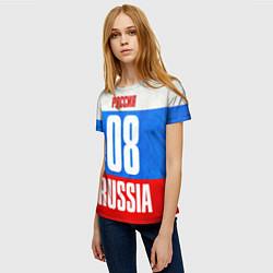 Футболка женская Russia: from 08 цвета 3D-принт — фото 2