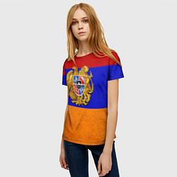 Футболка женская Армения цвета 3D — фото 2