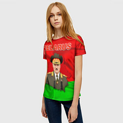 Футболка женская Belarus: Lukashenko цвета 3D-принт — фото 2