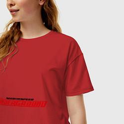 Футболка оверсайз женская NFS Undeground цвета красный — фото 2