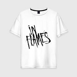 Футболка оверсайз женская In Flames цвета белый — фото 1