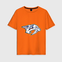 Футболка оверсайз женская Nashville Predators цвета оранжевый — фото 1