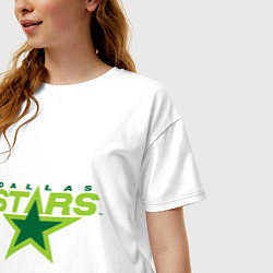 Футболка оверсайз женская Dallas Stars цвета белый — фото 2
