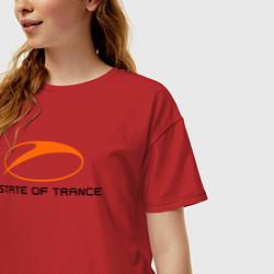 Футболка оверсайз женская A State of Trance цвета красный — фото 2