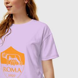 Футболка оверсайз женская AS Roma: Autumn Top цвета лаванда — фото 2