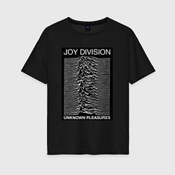 Футболка оверсайз женская Joy Division: Unknown Pleasures цвета черный — фото 1