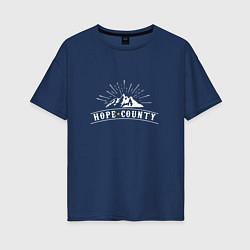 Футболка оверсайз женская Hope Count: Mountain цвета тёмно-синий — фото 1