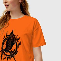 Футболка оверсайз женская The Hunger Games цвета оранжевый — фото 2